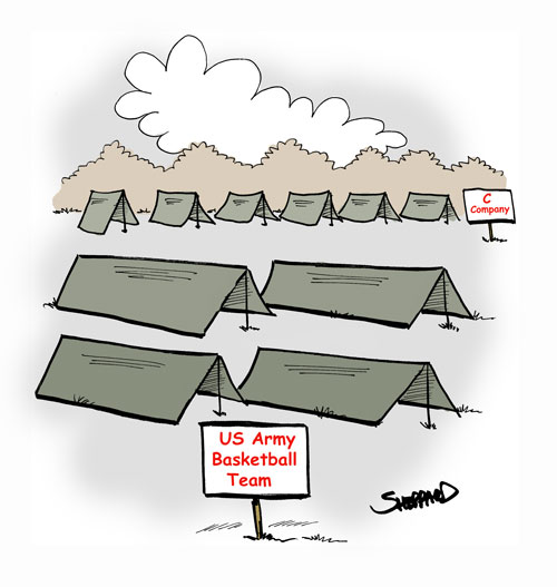 907. Basketball Team Tents