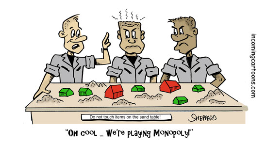 947. Sand Table Monopoly